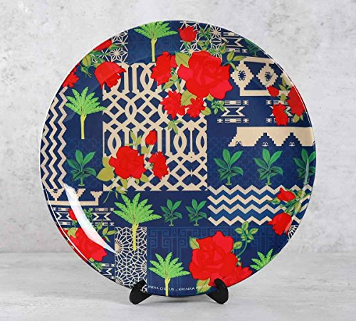 Rose Garden Maze 10 inch Wall Plate and Snacks Platter