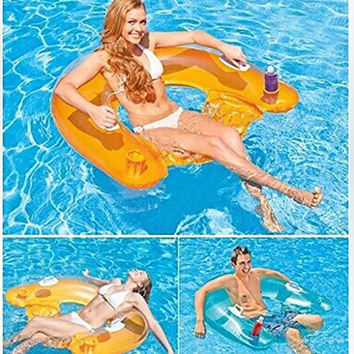 ToDIDAF Schwimmbad schwimmt für Erwachsene Sitzreihe Aufblasbare schwimmende Luxusreihe Cartoon-Schwimmring Wasser aufblasbares Spielzeug für die Sommerferien Pool-Party Reise, 152 x 99 cm