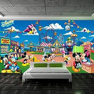DRBTBH Papel Pintado Autoadhesivo (Ancho) 300X (Alto) 210Cm3D Paradise Cartoon Mouse Mural Papel Tapiz Sala De Estar Dormitorio Hogar 3D Mural Foto Habitación Infantil Habitación Para Niños Arte De