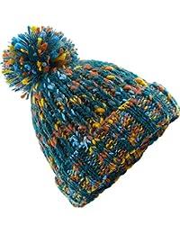 aeab4ab85fcf08 Neverless Strick-Mütze Damen Wintermütze Grobstrick Bunt Rippstrik Bommel- Mütze Pudelmütze