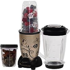 Wonderchef Nutri-Blend 63152294 400-Watt Mixer with 3 Jars (Champagne/Black)