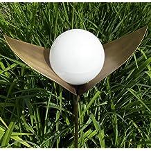 """Garten Solarlampe """"Lichtblüte Regina"""" aus Messing mit warmweißen Solarkugel"""