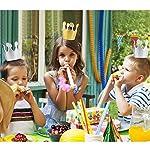 JZK® 10 x Schwarz Party Foto Blase Rede DIY mit der Kreide für Neujahr Hochzeit, Geburtstag, Abschluss etc.