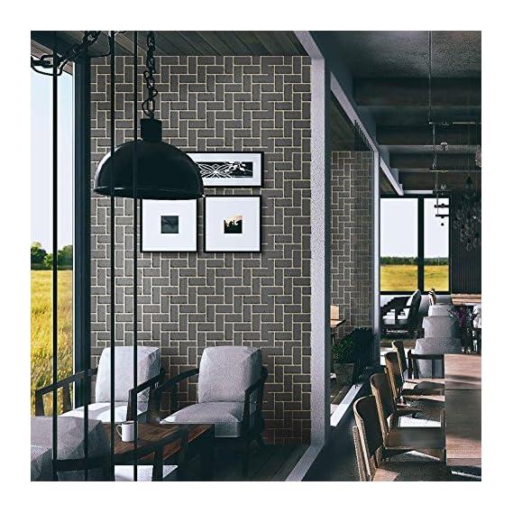 akadeco self Adhesive Decorative multipupose Shade of Greyish Blue Waterproof PVC Wallpaper (1 roll Size - 330X45cm)
