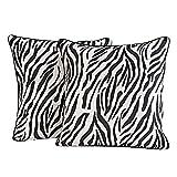 Yuga Wohnkultur Zebra-Druck Kissenbezug 16 x 16 Inches Printed Dekorative Kissenbezug 2 Stück