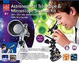 Teleskop und Mikroskop Set für den Einstieg in Kosmos und Mikrokosmos Extrahandlupe -