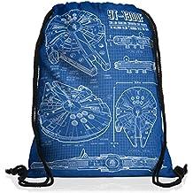 style3 Millennium Falcon Borsa da spalla sacco sacchetto drawstring bag gymsac cianografia