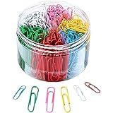 ZMREN Clips de Papel de Colores, clips oficina 300 Piezas 28mm + 150 Piezas 50mm, para el trabajo de oficina escolar