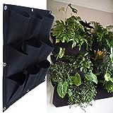 MEIWO 9 Pocket Hängende Vertikal Garten-Wand-Pflanzer für Yard Garden Home Decoration