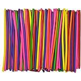Magische Luftballons,Magisches Latexballons, Gemischte Farbe Lange Verdrehen Ballons Zufällige Farbe 200er