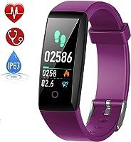 HETP Pulsera de Actividad, Reloj Inteligente con Pulsómetro y Presión Arterial Relojes Deportivos GPS Impermeable IP67...