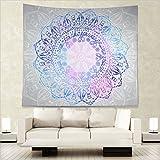 Dremisland Indian Mandala Wall Hanging Tapestry, Hippie Hippy Tapestries,Cotton Handmade Badsheet, Twin Size Bedding Bedspread, Picnic Beach Sheet, Table Cloth,Decorative Wall Hanging (L/203x153cm(80x60inch))