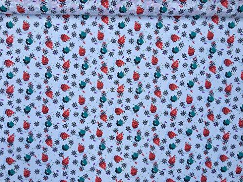 Waverly Floral Quilt (Prestige Seaside Sailing Boats Print Baumwolle Designer Poly Stoff Print Kids Craft Designer Stoff Kleid/Herstellen Craft machen Stoffe–Meterware, Polycotton, Pink, Per Metre)