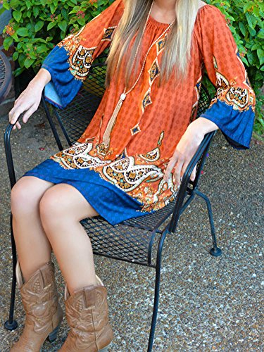 LaoZan Robe de Plage Fleurie Élégante et Raffinée de Style Thaïlandais pour Toutes les Femmes Orange