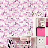 Fine Decor White/Pink/Purple - Fd42214: Flamingo - FD42214 - Wallpaper