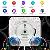 from Beatife Portable CD Player, 5-IN-1 Beatife Wall Mountable CD Music Player HiFi Bluetooth Speaker Home Audio Boombox with Remote Control FM Radio USB MP3 3.5mm Headphone Jack AUX input/output, Innovative Cable Pulling-Switch with 16G U-Disk ,White