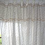 Guru-Shop Orientalische Vorhang, Gardine (1 Paar Vorhänge, Gardinen), Golddruck, Baumwolle, Länge: 250 cm, Dekovorhänge