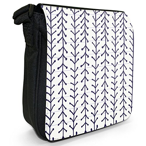 Fancy A Snuggle, Borsa a spalla donna S Hand Drawn Lines With V Shapes