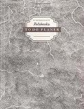 DÉKOKIND To Do Planer | DIN A4, 100+ Seiten, Register, Vintage Softcover | Dickes Checklisten Buch | Motiv: Broken Street