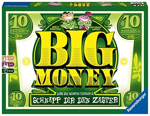 Ravensburger 26057 Big Money - das Würfelspiel für Familien mit Kindern ab - Monopoly Geld Ohne