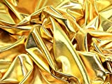 Metallic Lycra Stretch Kleid Stoff, Meterware, goldfarben + Frei Minerva Crafts Craft Guide