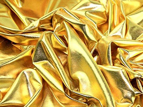 Metallic Lycra Stretch Kleid Stoff, Meterware, goldfarben + Frei Minerva Crafts Craft Guide - Nähmaschine Für Lycra