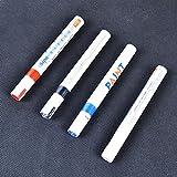 LoGas 6PCS Permanent Farbe Stifte Reifen Tire Metall Markieren Pen für Auto Motorrad Bike weiß/rot/blau/schwarz