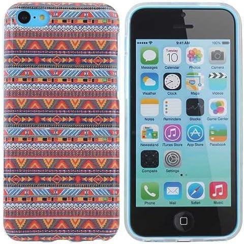 África tribal raya TPU Caso duro de la contraportada para iPhone 5C.