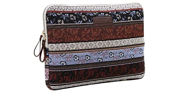 32f2005243ce0 ... Style Jacquard Embroidering Fabric 15-15.6 Inch Laptop   Notebook  Computer   MacBook   MacBook Pro   MacBook Air Sleeve Case Bag Cover((Classic  15-15.6)