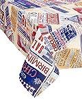 Tischdecke Circus. Tischdecke mit Design mehrfarbig. Die Phantasie ist eine Collage von App Werbung von verschiedenen Zirkus. Bund und Kanten Winkel. Stoff 100% Baumwolle. Made in Italy. 140x140 cm mehrfarbig