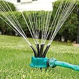 LeRan Garten rasen Sprinkler Einstellbare Rotierende Schlauchbewässerung Bewegliche Gartenanlage Pflanzensprüher mit 12 Rohren