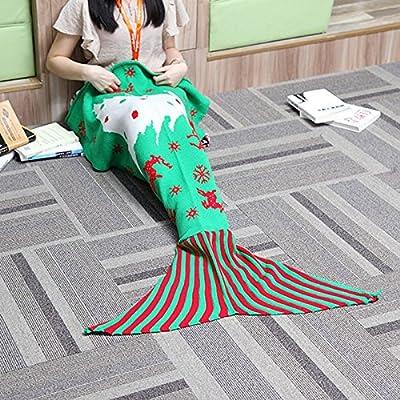 Manta de cola de sirena Bolso de dormir hecho a mano del ganchillo Textiles del hogar Ropa de cama colchas Mantas para cama Toda la temporada Edredones de sofá para niños unisex