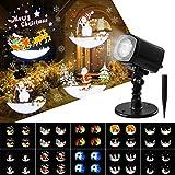 OxyLED Projecteur LED Exterieur Noel,Decoration Noel Exterieur Projecteur de Noël Effet Automatique avec 10 Diapositive,Lamps de Projection Extérieur et Intérieur pour Noel,Fêtes,Festival,Jardin
