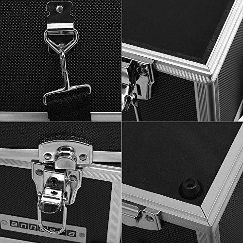 Werkzeugkoffer Angelkoffer Präsentationskoffer 3 Ebenen Alu 32L – Schwarz - 7