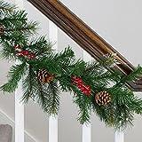 Weihnachtsgirlande mit Beeren und Tannenzapfen 2,7m Lights4fun