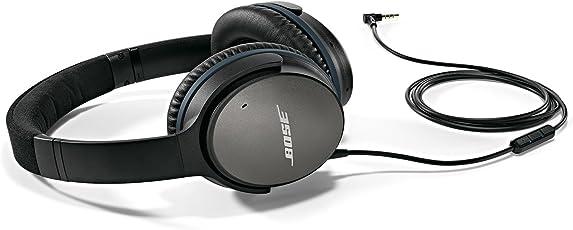 Bose QuietComfort 25 Acoustic Noise Cancelling Kopfhörer (geeignet für Apple-Geräte) schwarz