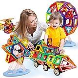 ZEARO Magnetisch 121 Teile Bausteinen Bausatz - Verbessertes magnetisches Bau Lernspiel für Kinder (121 Teile/Los)