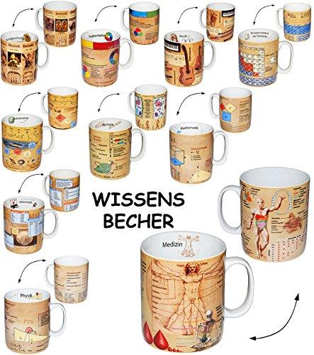 Unbekannt Henkeltasse -  Musik / Noten & Instrumente - Daten & Fakten  - 460 ml - groß - Porzellan / Keramik - Schule - Instrument Musiker - Uni - Hochschule Abitur -..
