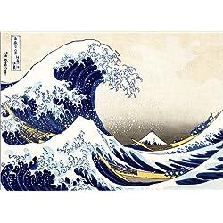 Póster 70 x 50 cm: The Great Wave of Kanagawa de Katsushika Hokusai - impresión artística.