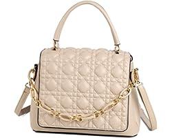 Travistar Umhängetasche Damen Handtaschen Klein 2021 Neu Top Griff Tasche Damen PU Leder Crossbody Bag Stilvoll und Elegant D