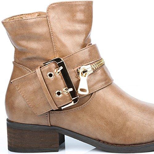 Ideal Shoes ,  Stivali donna Grigio (Grigio tortora)