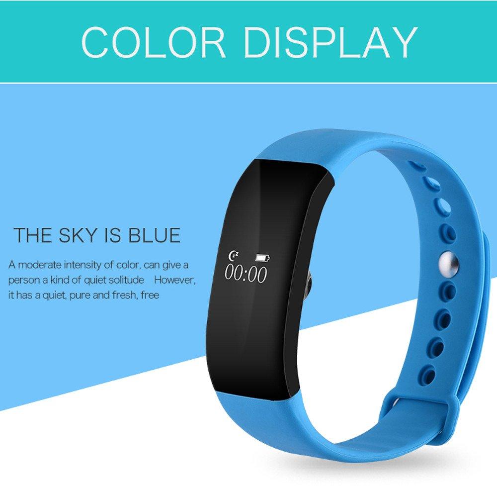 Sports BraceletHARRYSTORE Bluetooth 40 Sport Smart Watch Wristband Wireless Activity Pedometer Sleep Monitor Health Fitness Tracker Activity Wristband For AndroidIOS Men Women Boys Girls Ladies Man