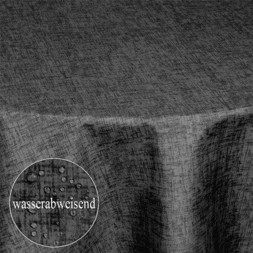 Tischdecke Wasserfest Wasserabweisend Gartentischdecke Tischtuch Stoff Textil Lotuseffekt Pflegeleicht und Abwaschbar| als Top Sonderpreis Sonderposten wegen Saisonwechsel| oval 160x220 GRAU -