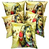 5pcs Multicolor Silk Pillow Covers Women Digital Print Sofa Cushion Covers