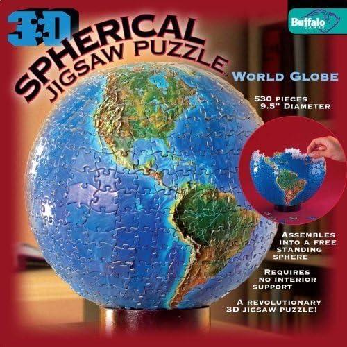 3D Spherical Spherical Spherical Puzzle - World Globe by Buffalo Games | De Nouveau Modèle  2853eb