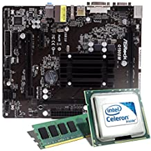 Intel Celeron J1900 / ASRock Q1900M Mainboard Bundle / 4096 MB | CSL PC Aufrüstkit | Intel Quad-Core J1900 4x 2000 MHz, 4GB DDR3, Intel HD Graphics, GigLAN, 5.1 Sound, USB 3.1 | Aufrüstset | PC Tuning Kit