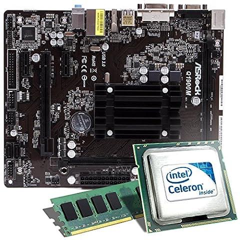 Intel Celeron J1900 / ASRock Q1900M Mainboard Bundle / 4096