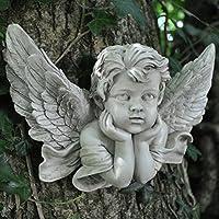 Vintage Cherubino preghiera medio scultura da parete