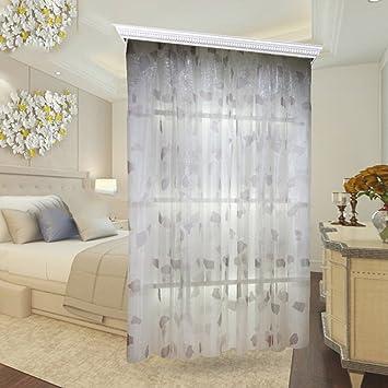 Einfache Und Moderne Vorhang Balkon Wohnzimmer Gardinen Die Schlafzimmer Boden Bis Zur Decke Erker