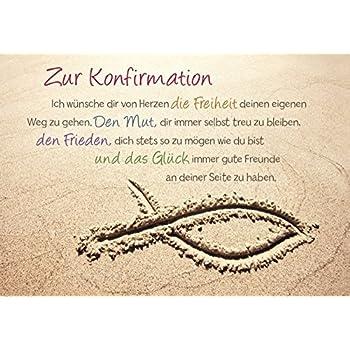Spruch Konfirmation Karte.Diverse 10 Glückwunschkarten Konfirmation Sand Spruch Perlen